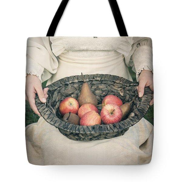 Basket With Fruits Tote Bag by Joana Kruse
