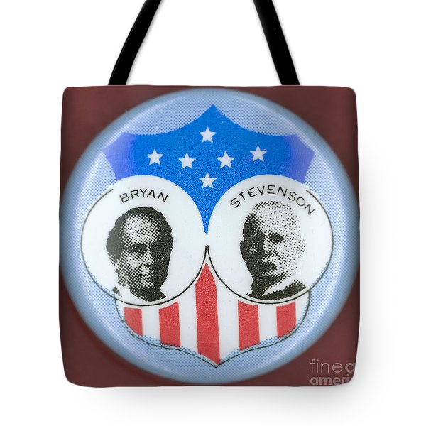 Bryan Campaign Button Tote Bag by Granger