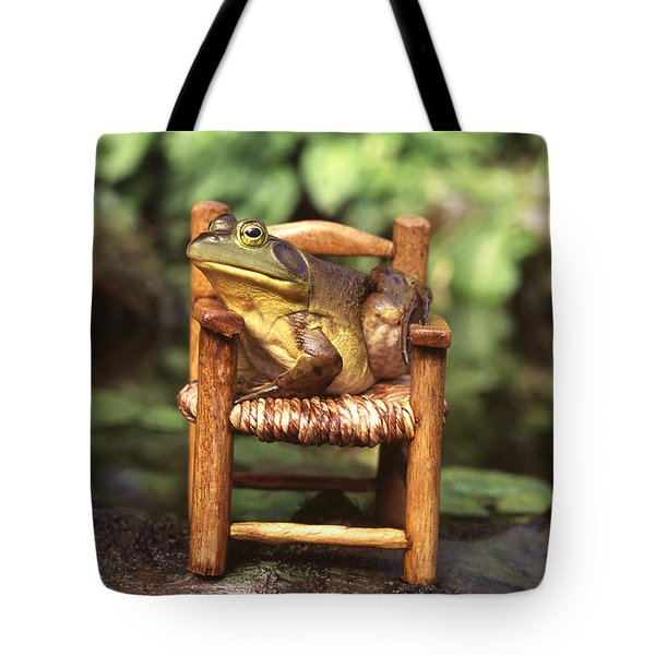 Bullfrog Tote Bag by Kenneth H Thomas and Photo Researchers