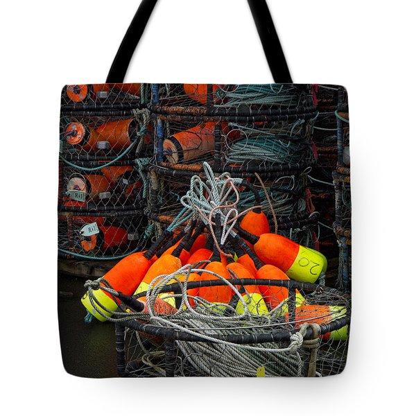 Buoys And Crabpots On The Oregon Coast Tote Bag
