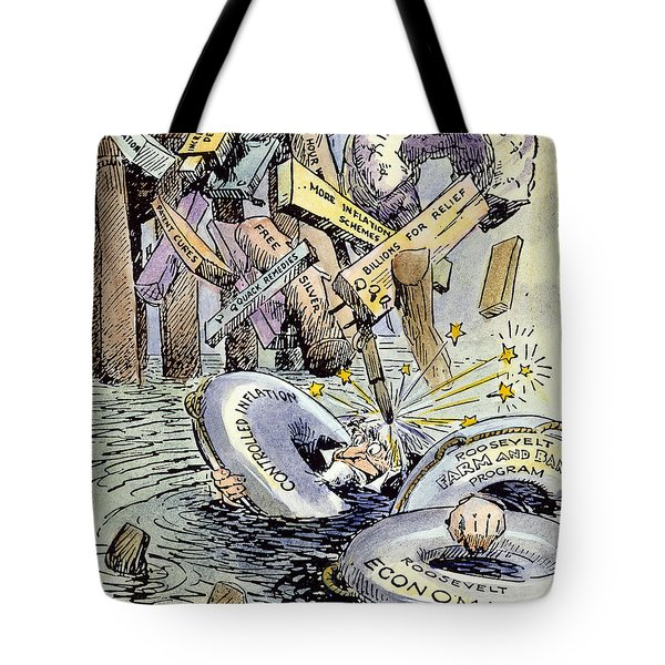 Cartoon: New Deal, 1933 Tote Bag by Granger