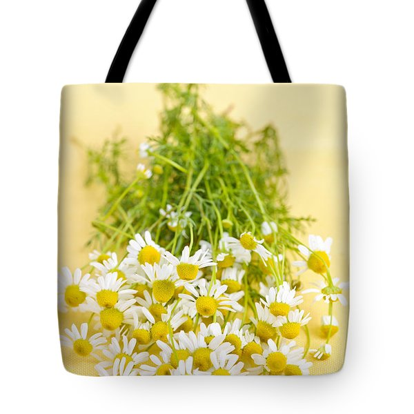 Chamomile Flowers Tote Bag by Elena Elisseeva