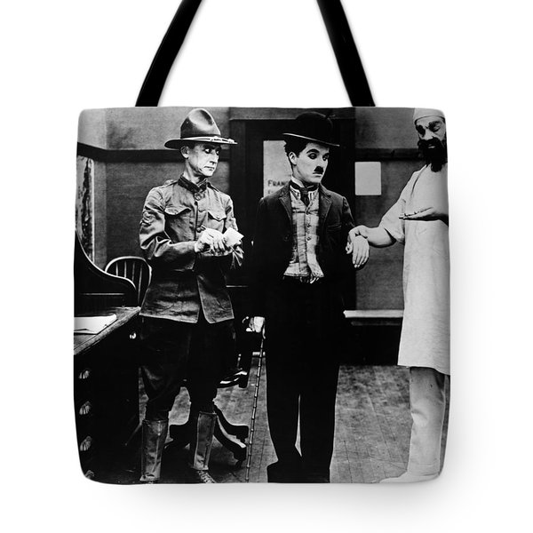 Chaplin: Shoulder Arms Tote Bag by Granger