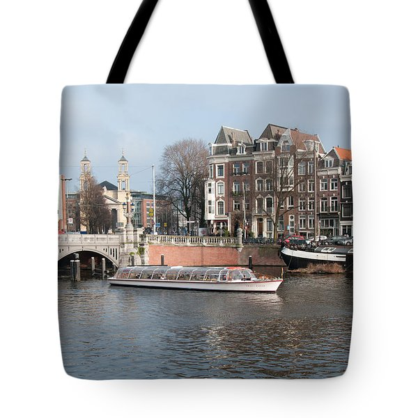 Tote Bag featuring the digital art City Scenes From Amsterdam by Carol Ailles