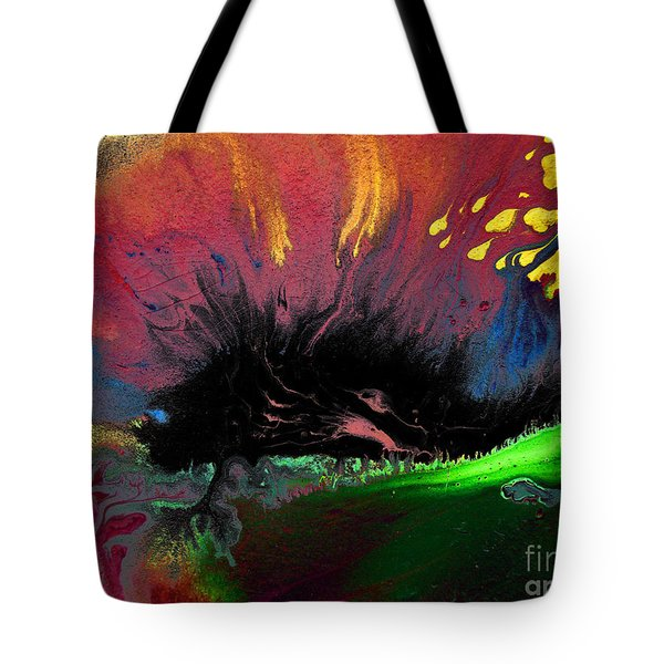 Colorful Water Color Painting Tote Bag by Sumit Mehndiratta