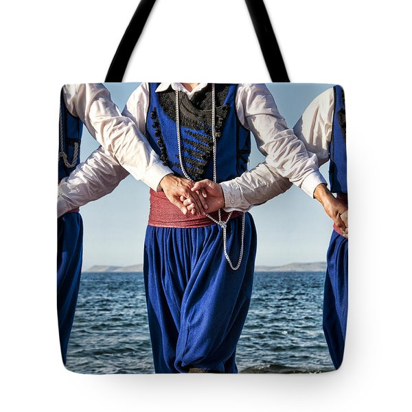 Cretan Dancers Tote Bag