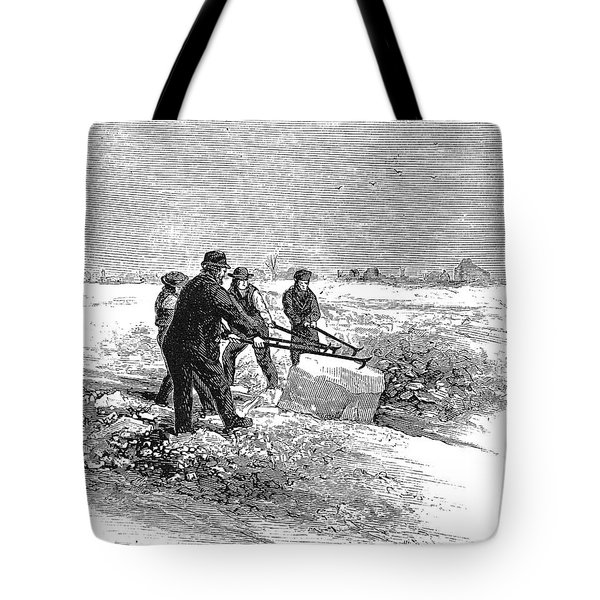 Cutting Ice, C1870 Tote Bag by Granger