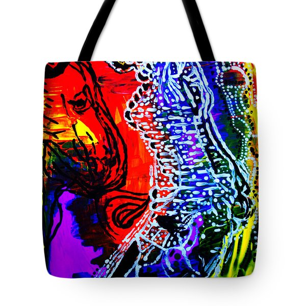 Tote Bag featuring the painting Dinka Bride by Gloria Ssali