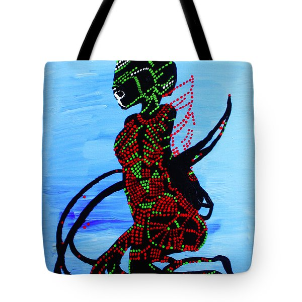 Dinka Bride - South Sudan Tote Bag by Gloria Ssali