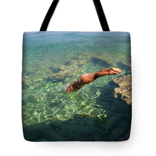 Dive Into The Sea Tote Bag
