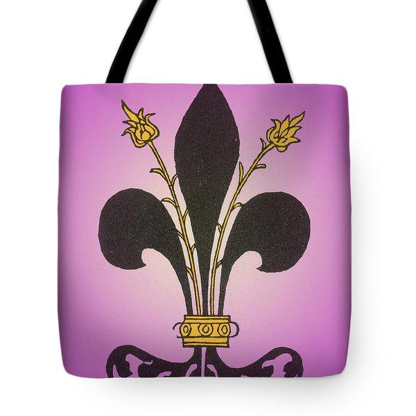 Fleur-de-lis Tote Bag by Science Source