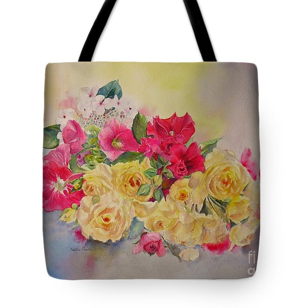 Tote Bag featuring the painting Garden's Delight by Beatrice Cloake