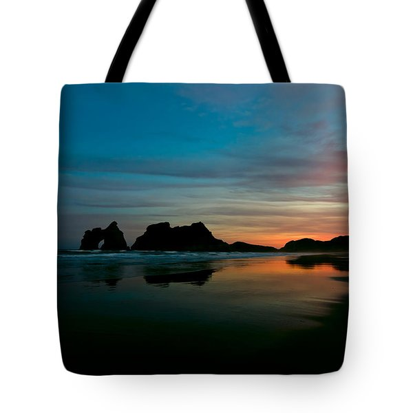 Golden Morning At A Beach  Tote Bag