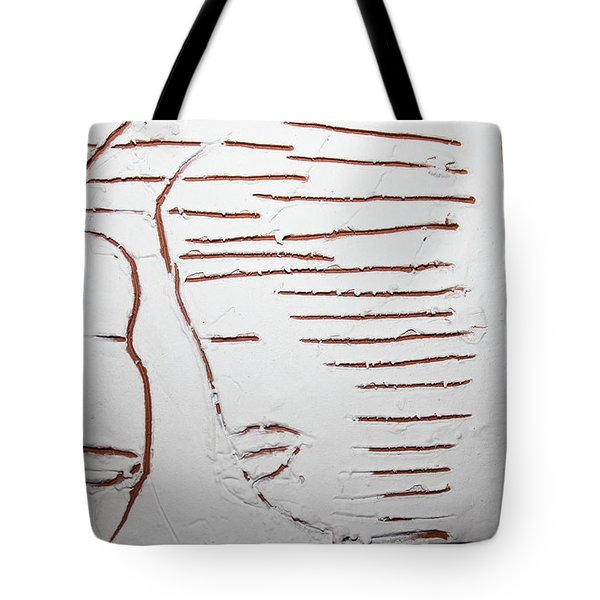 Greeting - Tile Tote Bag by Gloria Ssali