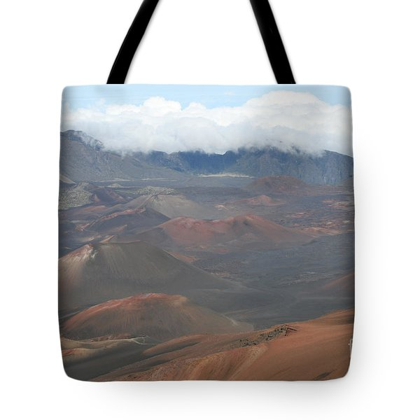Haleakala Volcano Maui Hawaii Tote Bag by Sharon Mau