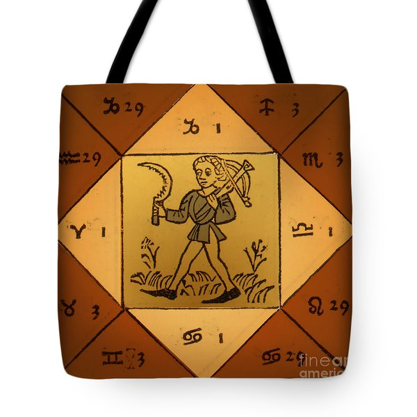 Horoscope Types, Engel, 1488 Tote Bag by Science Source
