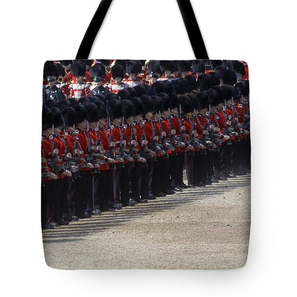 Irish Guards March Pass During The Last Tote Bag by Andrew Chittock