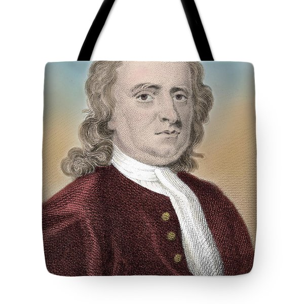 Isaac Newton, English Polymath Tote Bag by Science Source