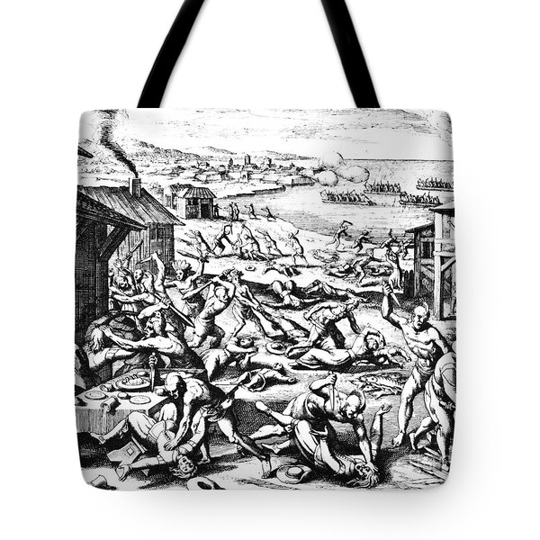 Jamestown: Massacre, 1622 Tote Bag by Granger
