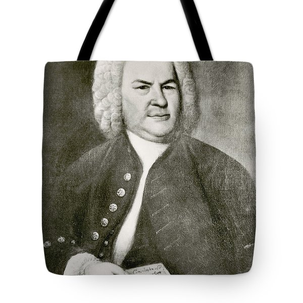 Johann Sebastian Bach, German Baroque Tote Bag by Photo Researchers