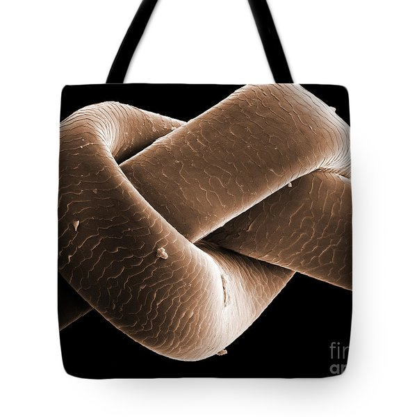 Knot In Human Hair, Sem Tote Bag by Ted Kinsman