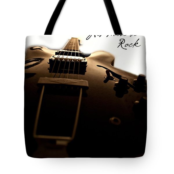 Let There Be Rock Tote Bag by Christopher Gaston