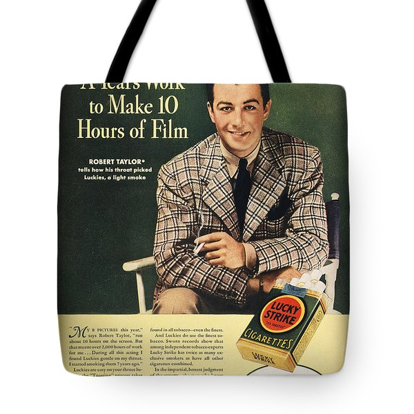 Lucky Strike Cigarette Ad Tote Bag by Granger