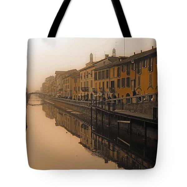 Milan Naviglio Grande Tote Bag by Joana Kruse