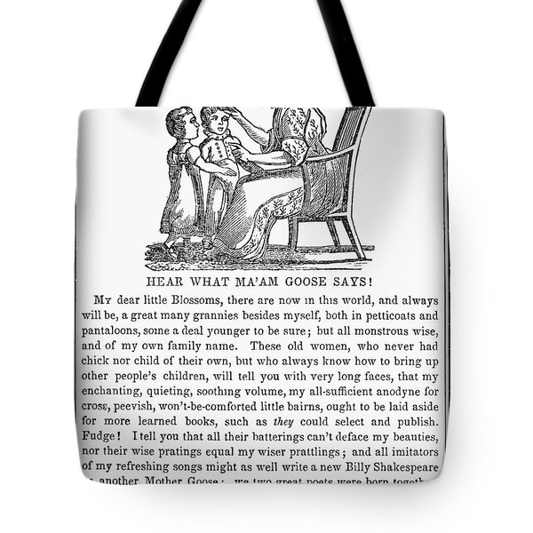 Mother Goose, 1833 Tote Bag by Granger