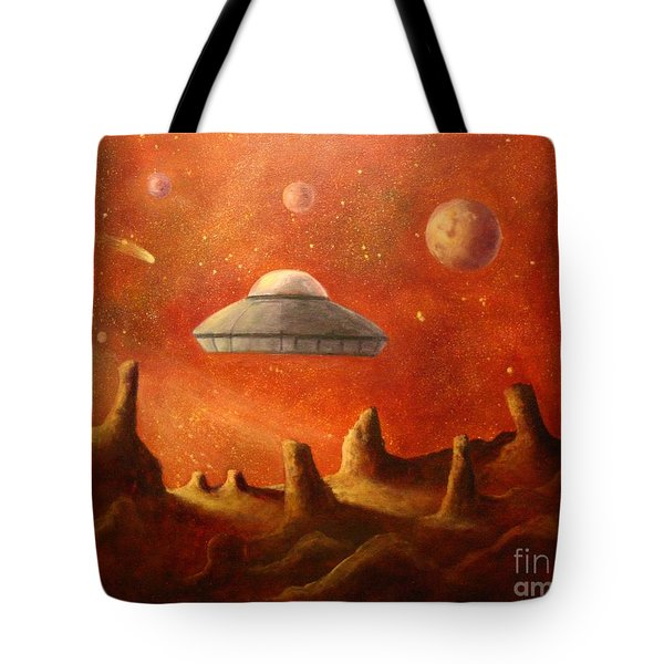 Mysterious Planet Tote Bag by Randy Burns