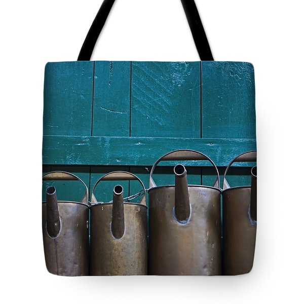 Old Watering Cans Tote Bag by Joana Kruse