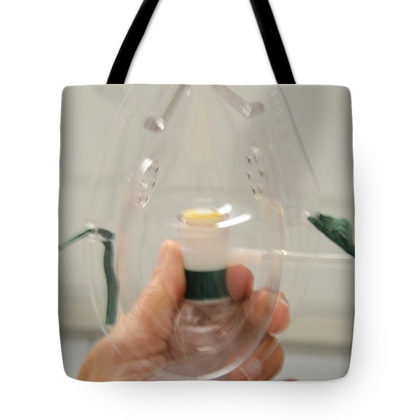 Oxygen Mask Tote Bag by Photo Researchers, Inc.