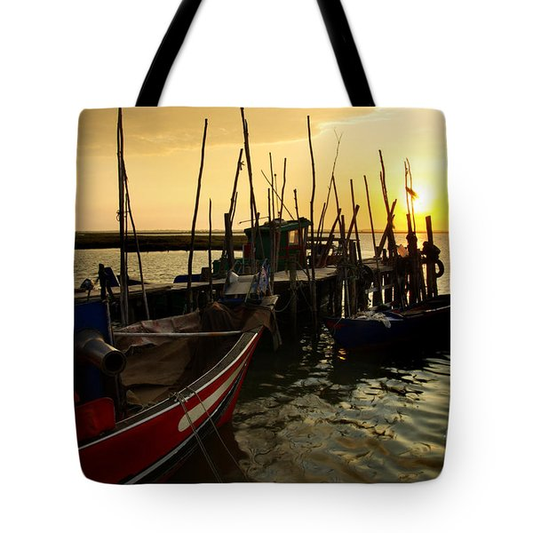 Palaffite Port Tote Bag by Carlos Caetano