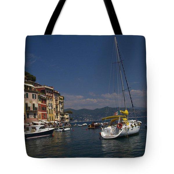 Portofino In The Italian Riviera In Liguria Italy Tote Bag by David Smith