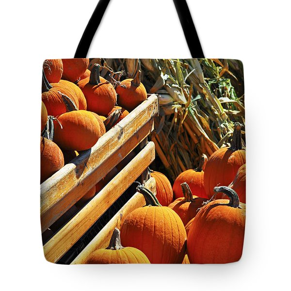 Pumpkins Tote Bag by Elena Elisseeva
