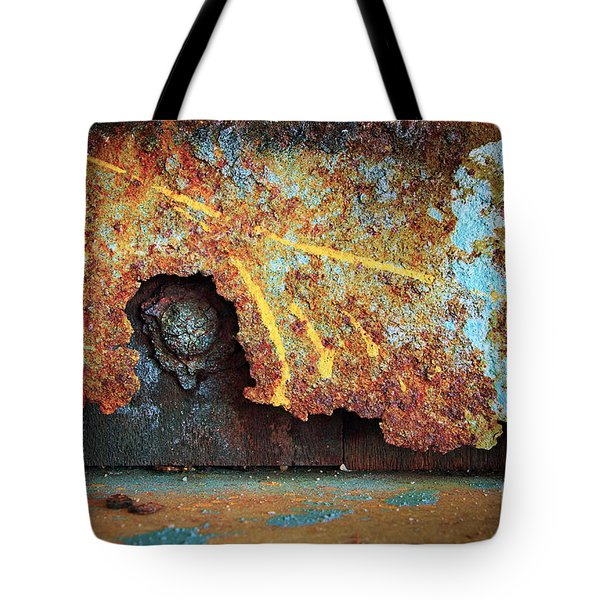 Rust Background Tote Bag by Carlos Caetano