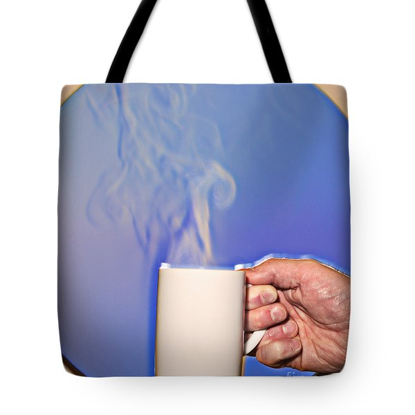 Schlieren Image Of Hot Coffee Cup Tote Bag by Ted Kinsman