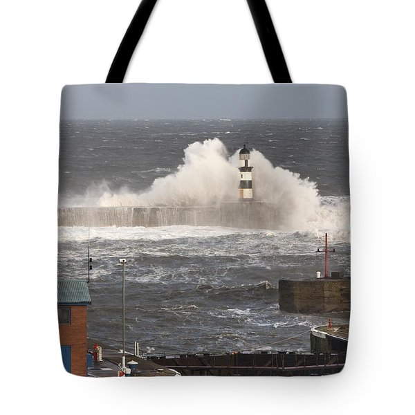 Seaham, Teesside, England Waves Tote Bag by John Short