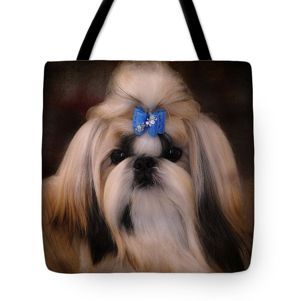 Shih Tzu Tote Bag by Jai Johnson