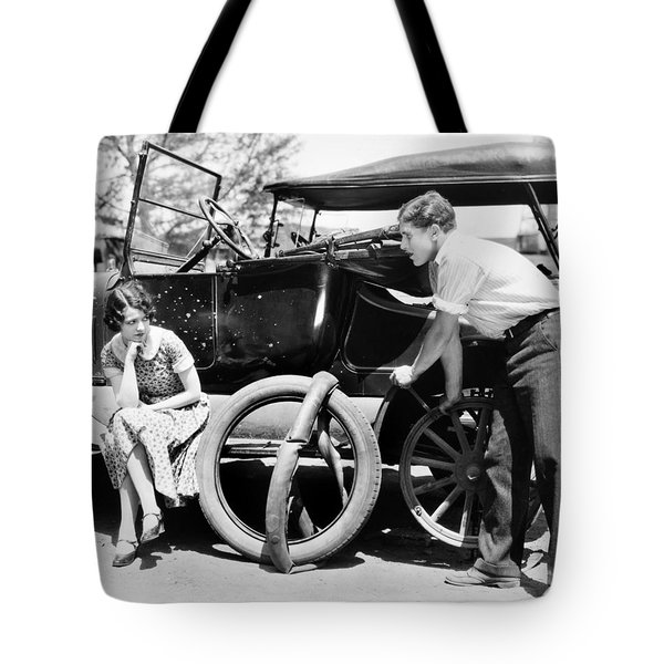 Silent Film: Automobiles Tote Bag by Granger