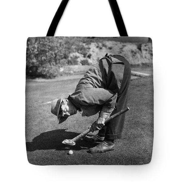 Silent Film Still: Golf Tote Bag by Granger