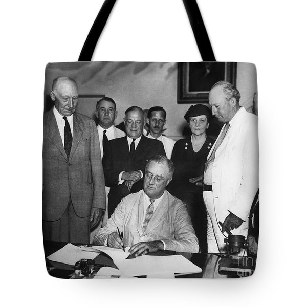 Social Security Act, 1935 Tote Bag by Granger
