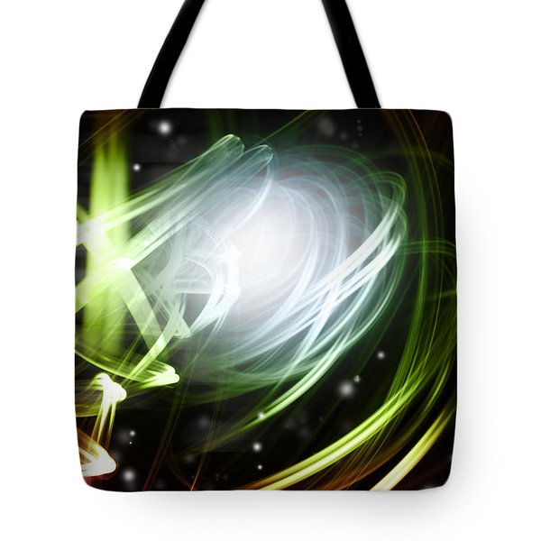Space Background Tote Bag by Les Cunliffe