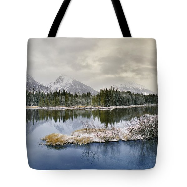 Spillway Lake And The Opal Range, Peter Tote Bag by Darwin Wiggett