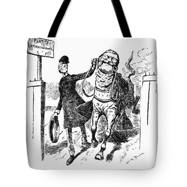 Teddy Roosevelt Cartoon Tote Bag by Granger