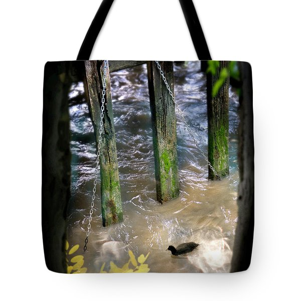 Tote Bag featuring the photograph Thames Coot by Richard Piper