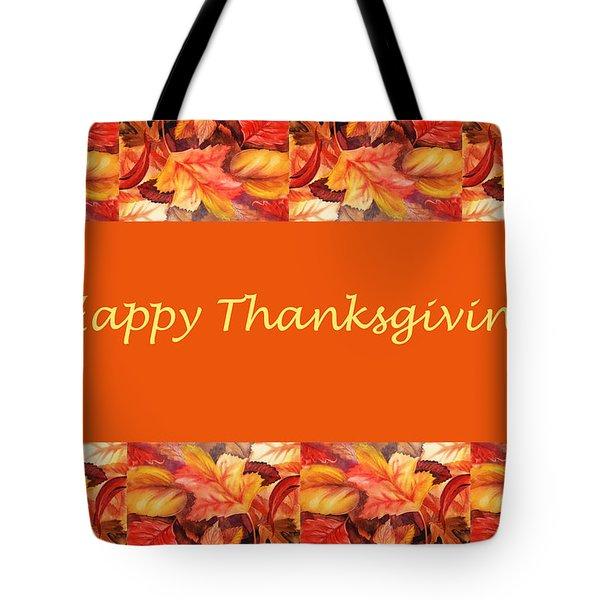 Thanksgiving Card Tote Bag by Irina Sztukowski