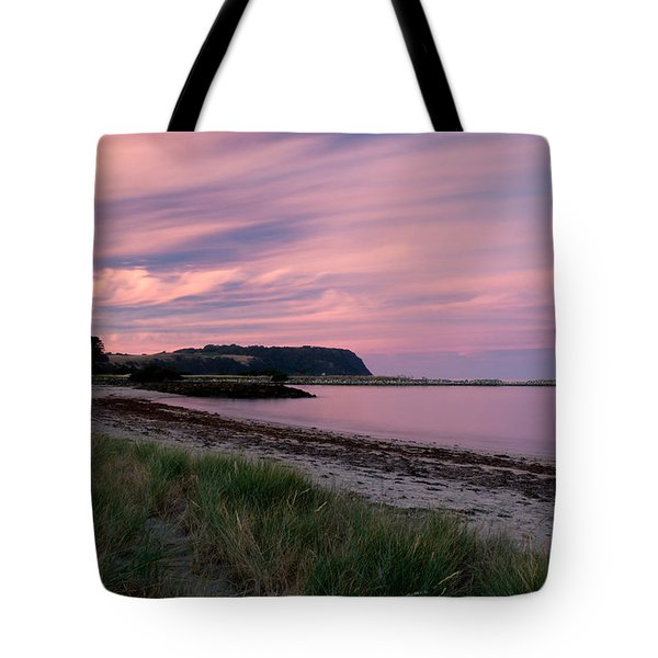 Twilight After A Sunset At A Beach Tote Bag by Ulrich Schade