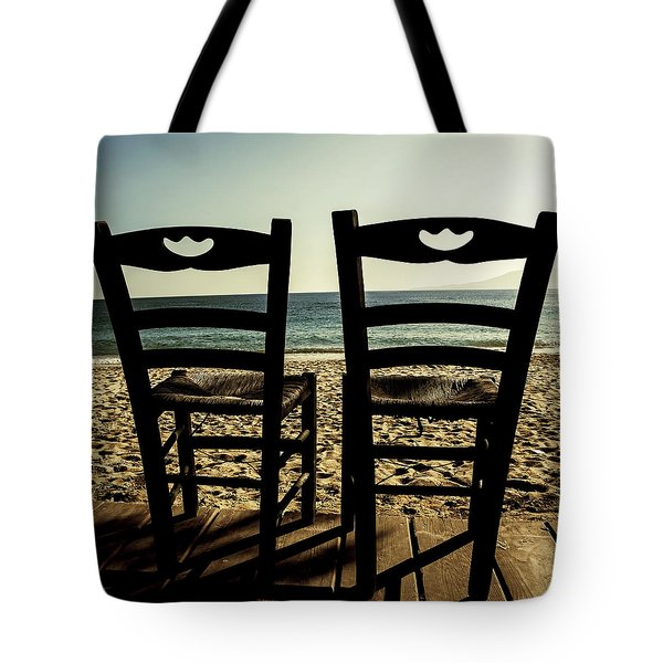 Two Chairs Tote Bag by Joana Kruse