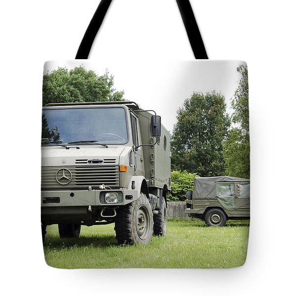 Unimog Truck Of The Belgian Army Tote Bag by Luc De Jaeger